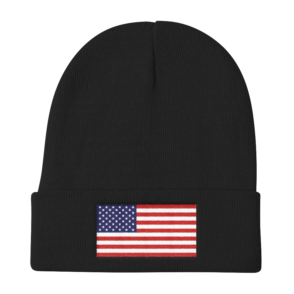 Black United States Flag