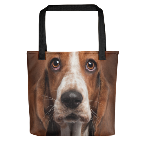 Default Title Basset Hound Dog Tote Bag Totes by Design Express