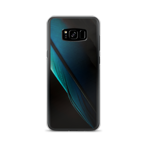 Samsung Galaxy S8+ Blue Black Feather Samsung Case by Design Express