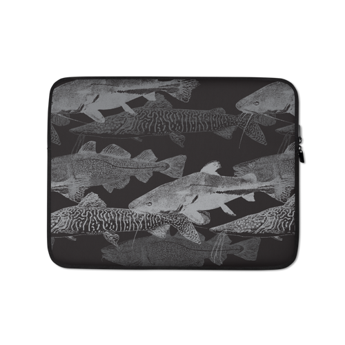13 in Grey Black Catfish Laptop Sleeve by Design Express