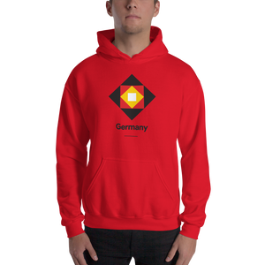 "Red / S Germany ""Diamond"" Hooded Sweatshirt by Design Express"