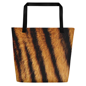 "Black Tiger ""All Over Animal"" 4 Beach Bag Totes by Design Express"