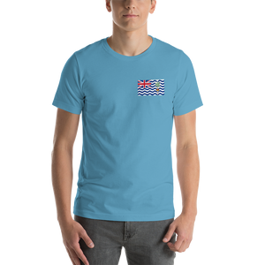 Ocean Blue / S British Indian Ocean Territory Unisex T-Shirt by Design Express