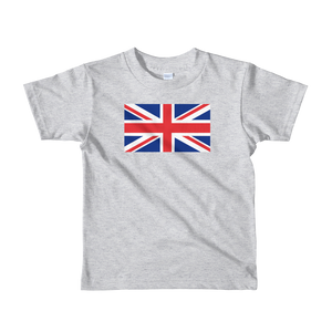 "Heather Grey / 2yrs United Kingdom Flag ""Solo"" Short sleeve kids t-shirt by Design Express"