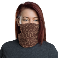 Default Title Diamond Brown Pattern Neck Gaiter Masks by Design Express