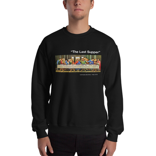 S The Last Supper Unisex Black Sweatshirt by Design Express