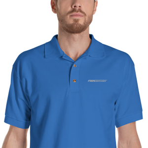 Royal / S Fish Key West Embroidered Polo Shirt by Design Express
