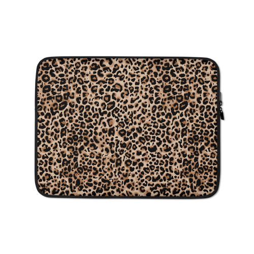 13 in Golden Leopard Laptop Sleeve by Design Express