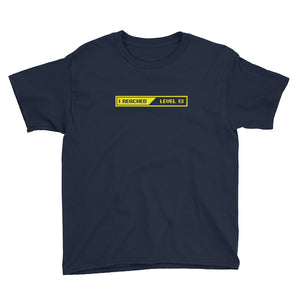 I Reached lLevel 13 Loading Youth Short Sleeve T-Shirt
