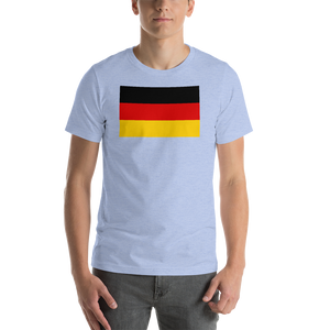 Heather Blue / S Germany Flag Short-Sleeve Unisex T-Shirt by Design Express