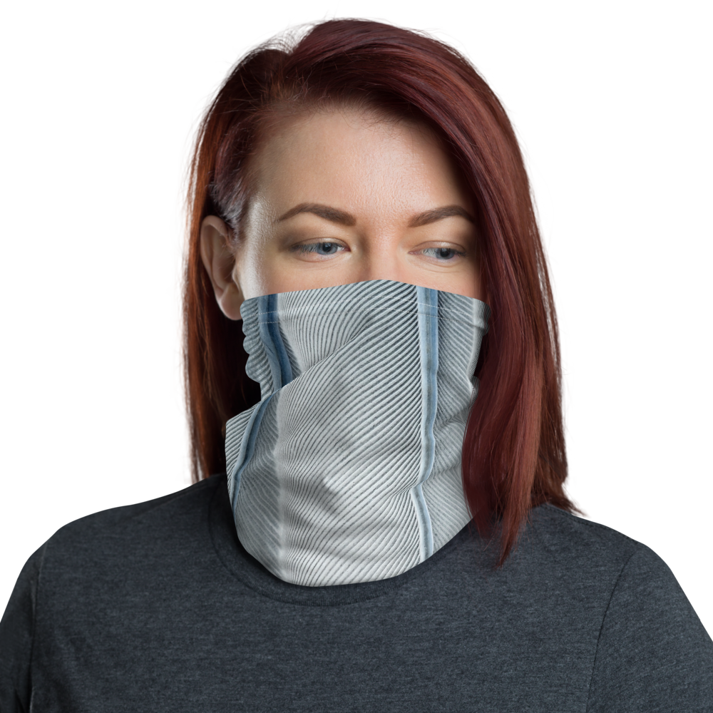 Default Title White Feathers Texture Neck Gaiter Masks by Design Express