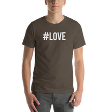 Army / S Hashtag #LOVE Short-Sleeve Unisex T-Shirt by Design Express