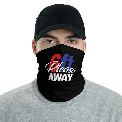 Default Title 6ft Please Away RBW Neck Gaiter Masks by Design Express
