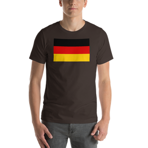 Brown / S Germany Flag Short-Sleeve Unisex T-Shirt by Design Express