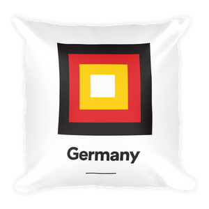 "Germany ""Frame"" Square Pillow"