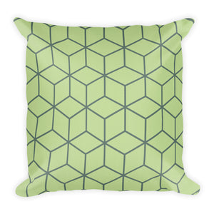 Diamonds Mint Green Square Premium Pillow