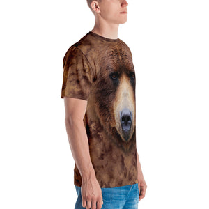 "Grizzly 02 ""All Over Animal"" Men's T-shirt All Over T-Shirts by Design Express"