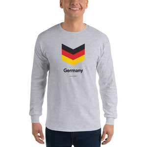 "Sport Grey / S Germany ""Chevron"" Long Sleeve T-Shirt by Design Express"