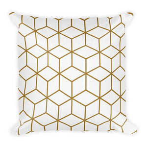 Default Title Diamonds White Gold Square Premium Pillow by Design Express