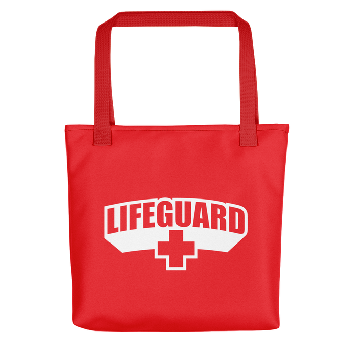 Lifeguard Classic Red Tote bag