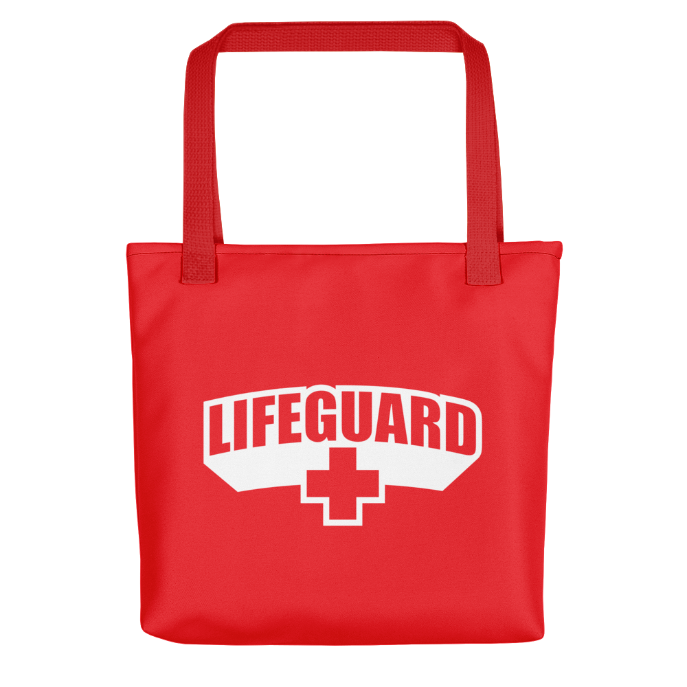 Default Title Lifeguard Classic Red Tote bag Totes by Design Express