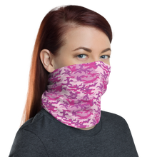 Fuschia Camo Neck Gaiter Masks by Design Express