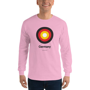 "Light Pink / S Germany ""Target"" Long Sleeve T-Shirt by Design Express"