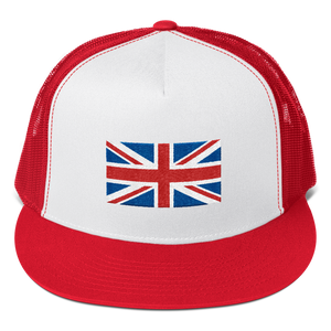 "Red/ White/ Red United Kingdom Flag ""Solo"" Trucker Cap by Design Express"