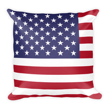 "United States Flag ""All Over"" Square Pillow"