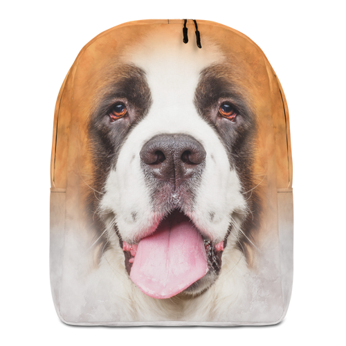 Default Title Saint Bernard Dog Minimalist Backpack by Design Express