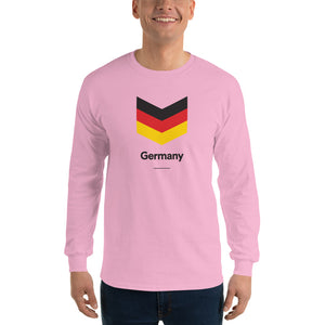"Light Pink / S Germany ""Chevron"" Long Sleeve T-Shirt by Design Express"