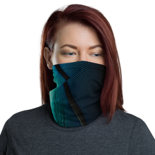 Default Title Blue Black Feather Neck Gaiter Masks by Design Express