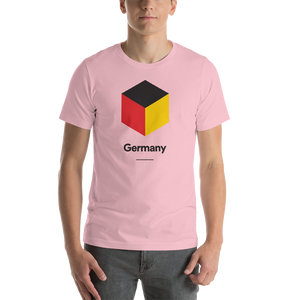 "Pink / S Germany ""Cubist"" Unisex T-Shirt by Design Express"