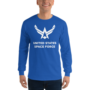 "Royal / S United States Space Force ""Reverse"" Long Sleeve T-Shirt by Design Express"