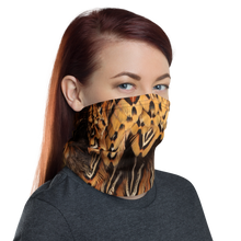 Brown Pheasant Feathers Neck Gaiter Masks by Design Express