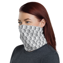 Diamond Grey Gradient Block Pattern Neck Gaiter Masks by Design Express
