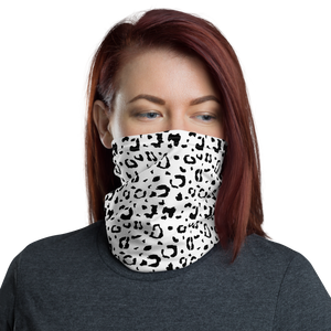 Default Title Black & White Leopard Print Neck Gaiter Masks by Design Express