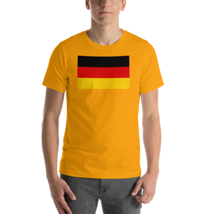 Gold / S Germany Flag Short-Sleeve Unisex T-Shirt by Design Express
