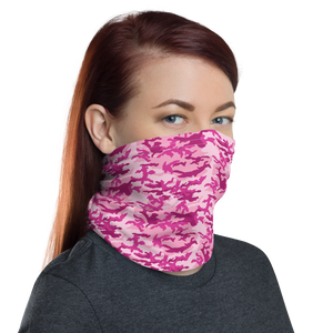 Brighter Pink Camo Neck Gaiter Masks by Design Express