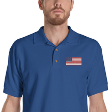 "Royal / S United States Flag ""Solo"" Embroidered Polo Shirt by Design Express"
