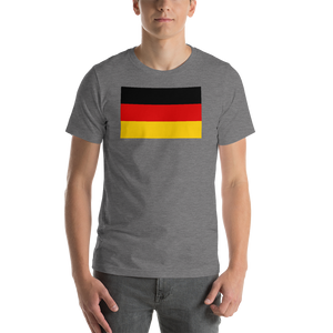Deep Heather / S Germany Flag Short-Sleeve Unisex T-Shirt by Design Express