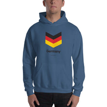 "Indigo Blue / S Germany ""Chevron"" Hooded Sweatshirt by Design Express"