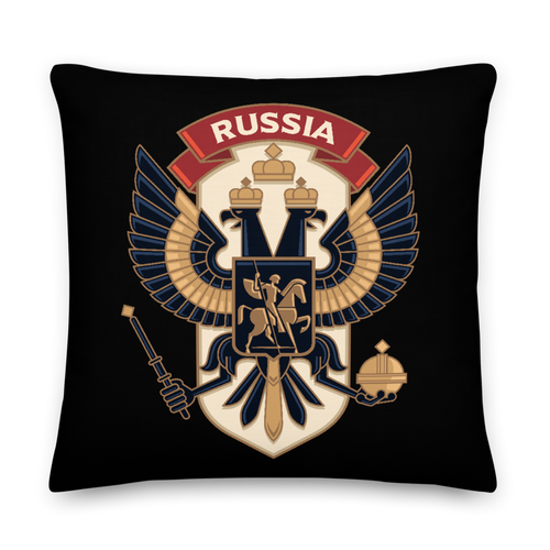 22×22 Eagle Russia Square Premium Pillow by Design Express