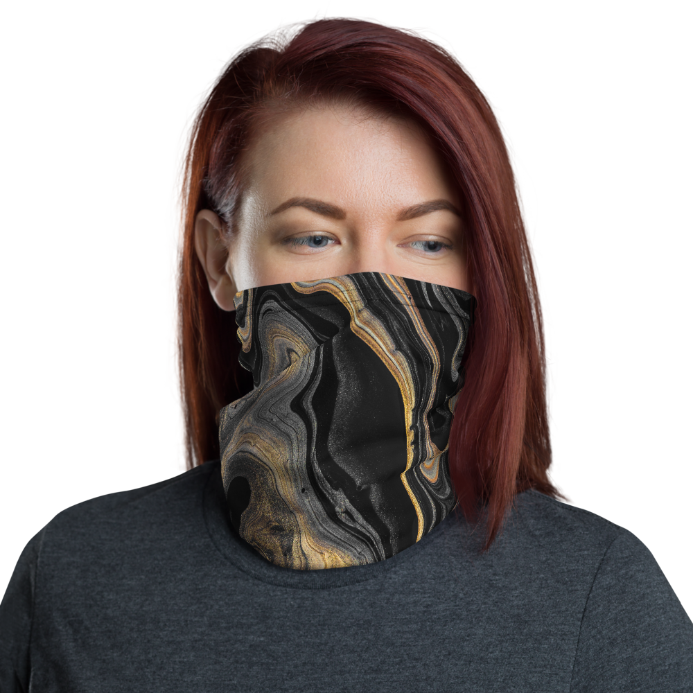 Default Title Black Marble Neck Gaiter Masks by Design Express