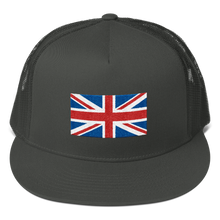 "Charcoal United Kingdom Flag ""Solo"" Trucker Cap by Design Express"