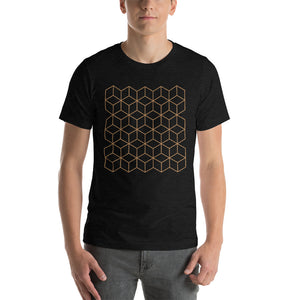 Black Heather / S Diamonds Patterns Short-Sleeve Unisex T-Shirt by Design Express