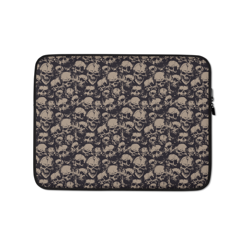 13 in Skull Pattern Laptop Sleeve by Design Express