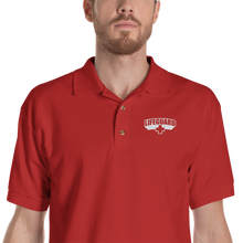 S Lifeguard Classic Red Embroidered Polo Shirt by Design Express