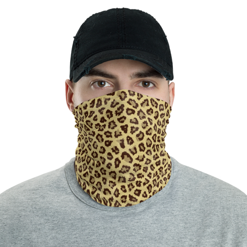 Default Title Yellow Leopard Print Neck Gaiter Masks by Design Express