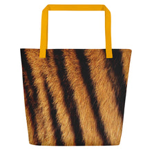 "Yellow Tiger ""All Over Animal"" 4 Beach Bag Totes by Design Express"